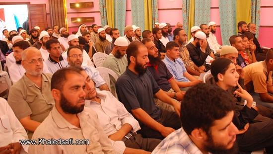 جانب من الحضور للحفل الختامي في صالة سلسبيل بالمنطقة الوسطى