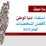 11 ملاحظة على استفتاء دنيا الوطن لأفضل شخصيات العام 2013