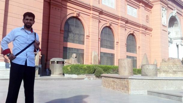 خالد صافي في زيارة لمتحف القاهرة بمصر