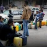 الانتظار في طوابير لأجل الوقود في غزة