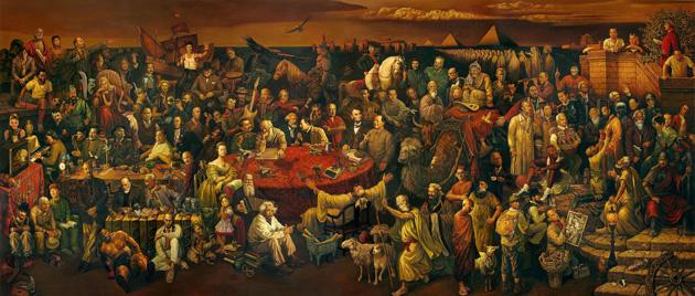 لوحة عظماء من التاريخ