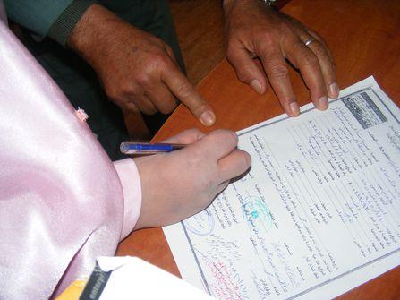 The bride signature