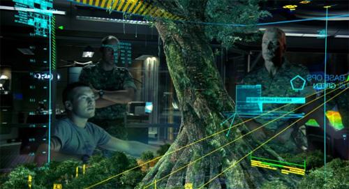 بعض من مظاهر البهرجة الإلكترونية والأجهزة التقنية في فلم أفاتار Avatar