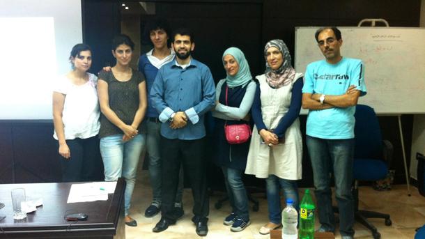 دورة غرّد لأجل سوريا لأعضاء من الجالية السورية في مصر